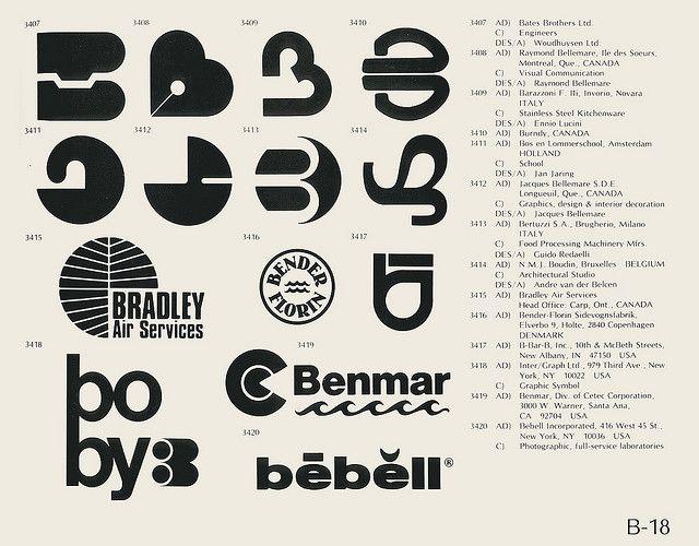 Vintage logo set, B.