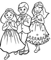 First Communion Coloring Pages Free And Printable First