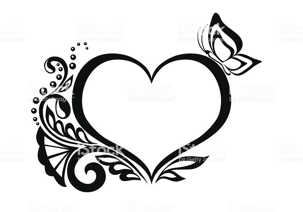 Image Result For Lace Heart Clipart Free Clip Art Clip Art Black And White Heart