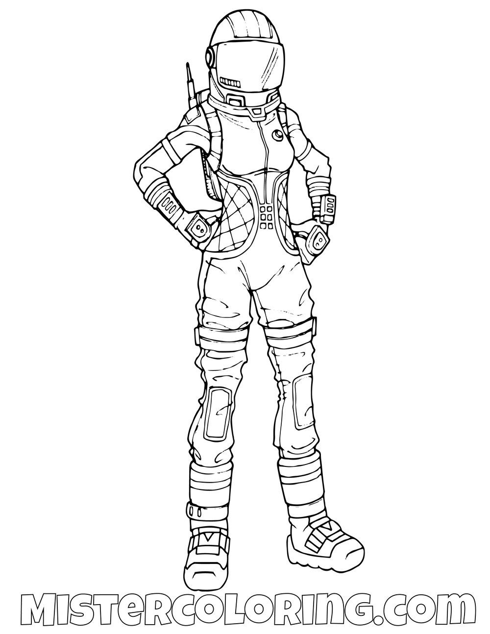 Free Dark Voyager Fortnite Coloring Page For Kids In 2019