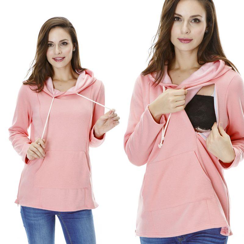 f8dbee1adc45b Maternity Sweater Nursing tops Thickened Warming Long Sleeve Hoodies  Fashion comfortable Breastfeeding Winter Sweater //