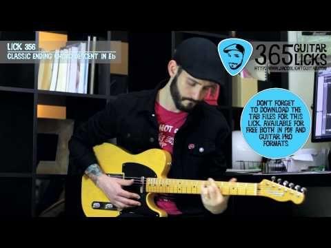 Lick 356/365 - Classic Ending Chord Descent in Eb | 365 Guitar Licks Pro...