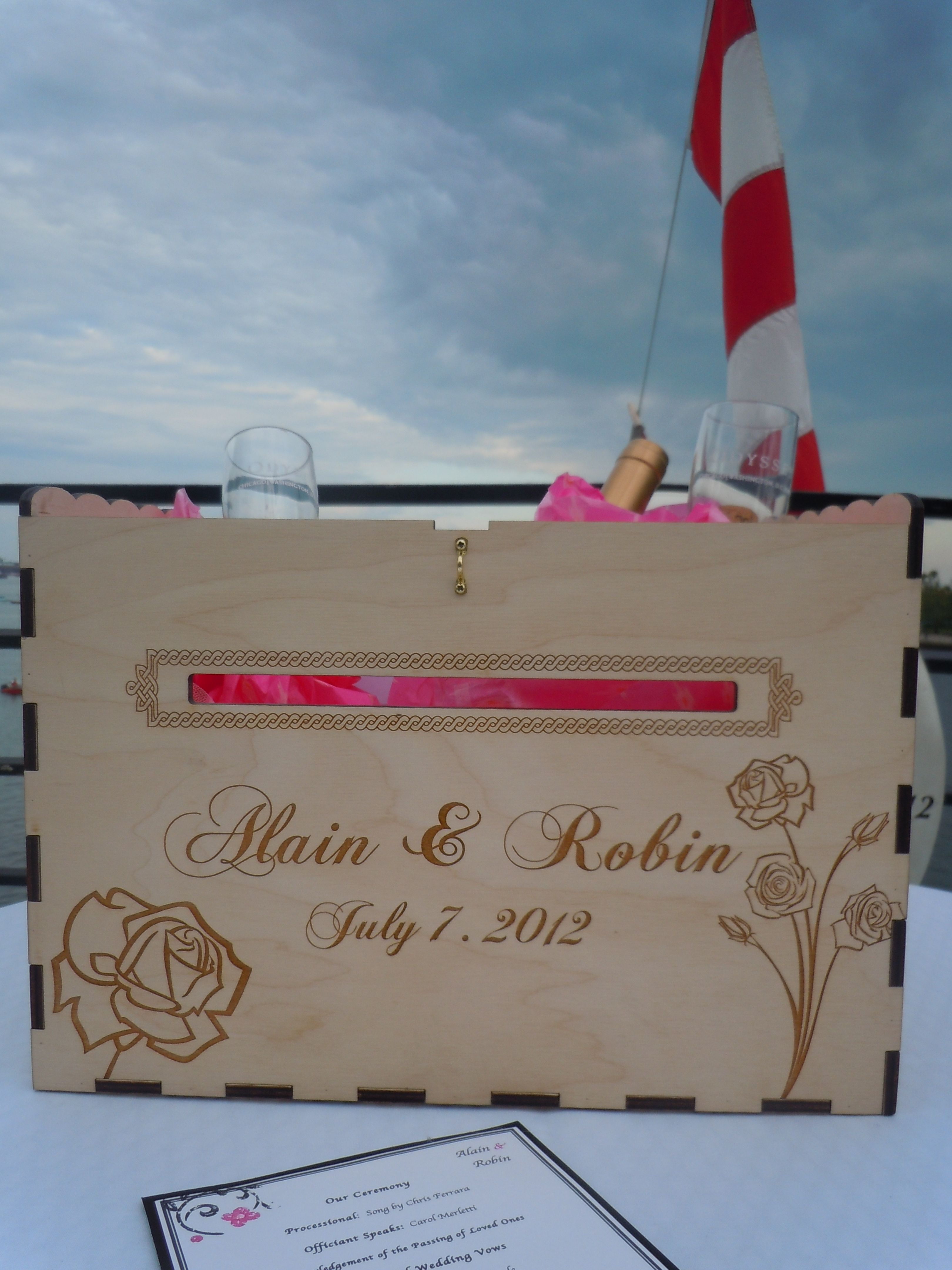 The couple incorporated the Wine Box and Love Letter Ceremony