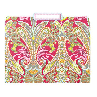 Colorful File Folders Office Supplies Patterned Anna Griffin Folder Anabf012