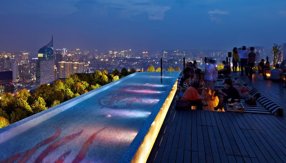 SKYE floor of BCA Tower - Grand Indonesia Thamrin) is Jakartau0027s tallest rooftop bar opened in June & Pin by dian on Cool Design | Pinterest | Rooftop Indonesia and ... memphite.com