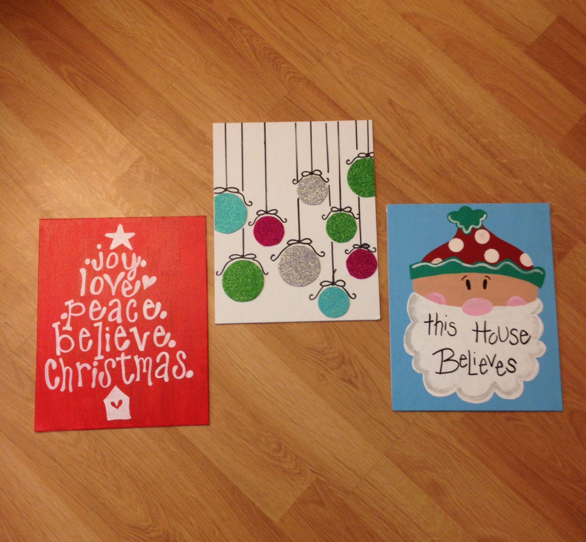 Christmas canvases diy christmas pictures diy christmas