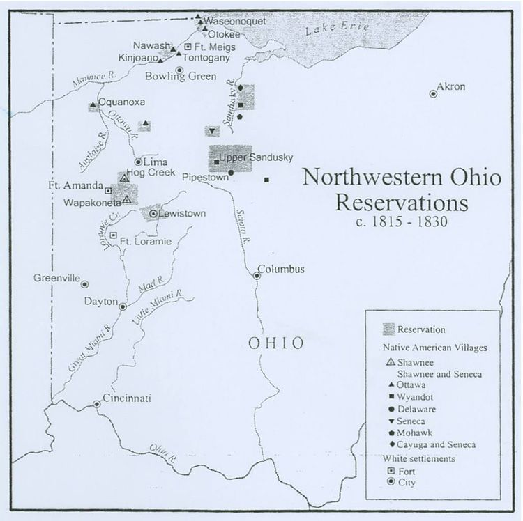 The Treaty Of Fort Meigs Granted The Shawnees Still In - North west ohio map