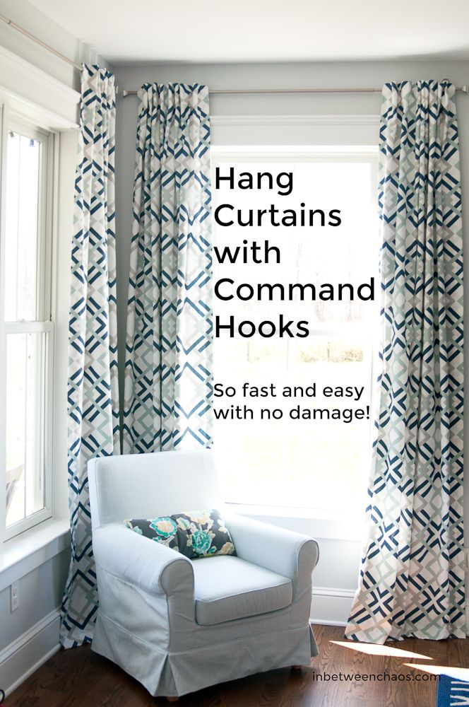 Command Hook For Curtain Rods Inbetweenchaos Com Curtains Living Room Hanging Curtains Home