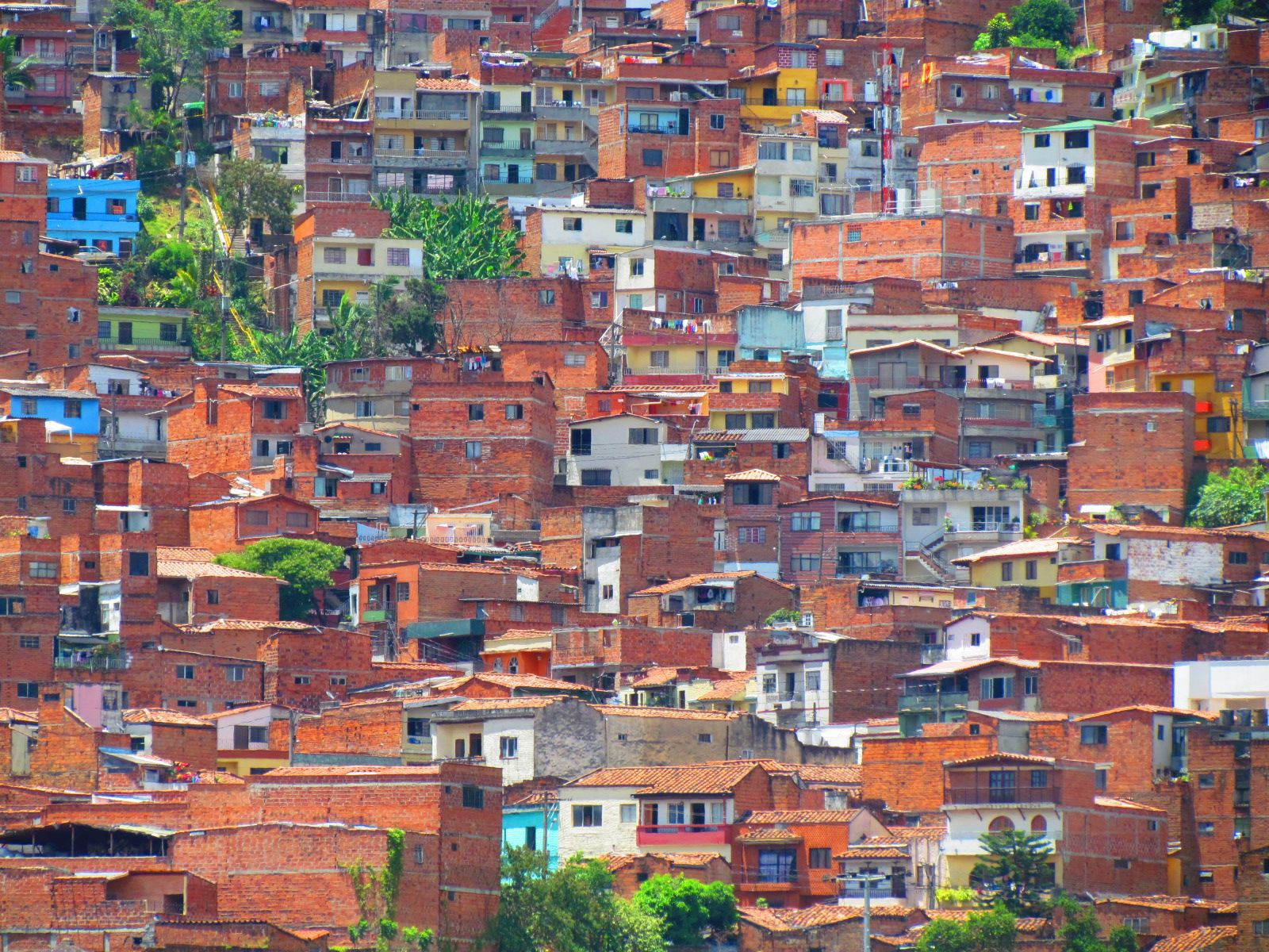 Medellin Colombia Architecture stacked Houses Stilts