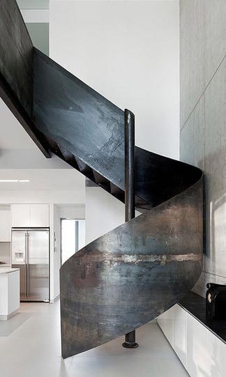 Best Blackened Metal Spiral Kitchen Stair Decor Metal 400 x 300
