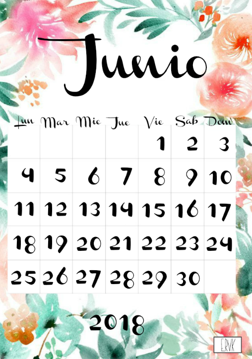 Ya tenéis disponible mi Calendario *Floral* imprimible para el año ...
