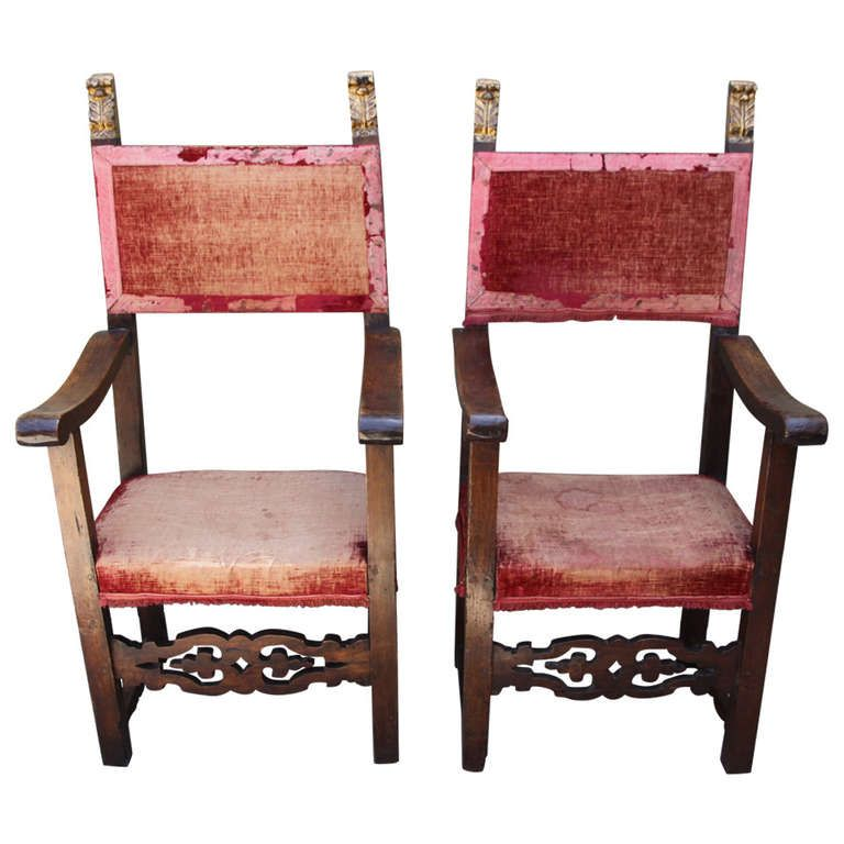 Pair of 18th Century Italian Armchairs | From a unique ...