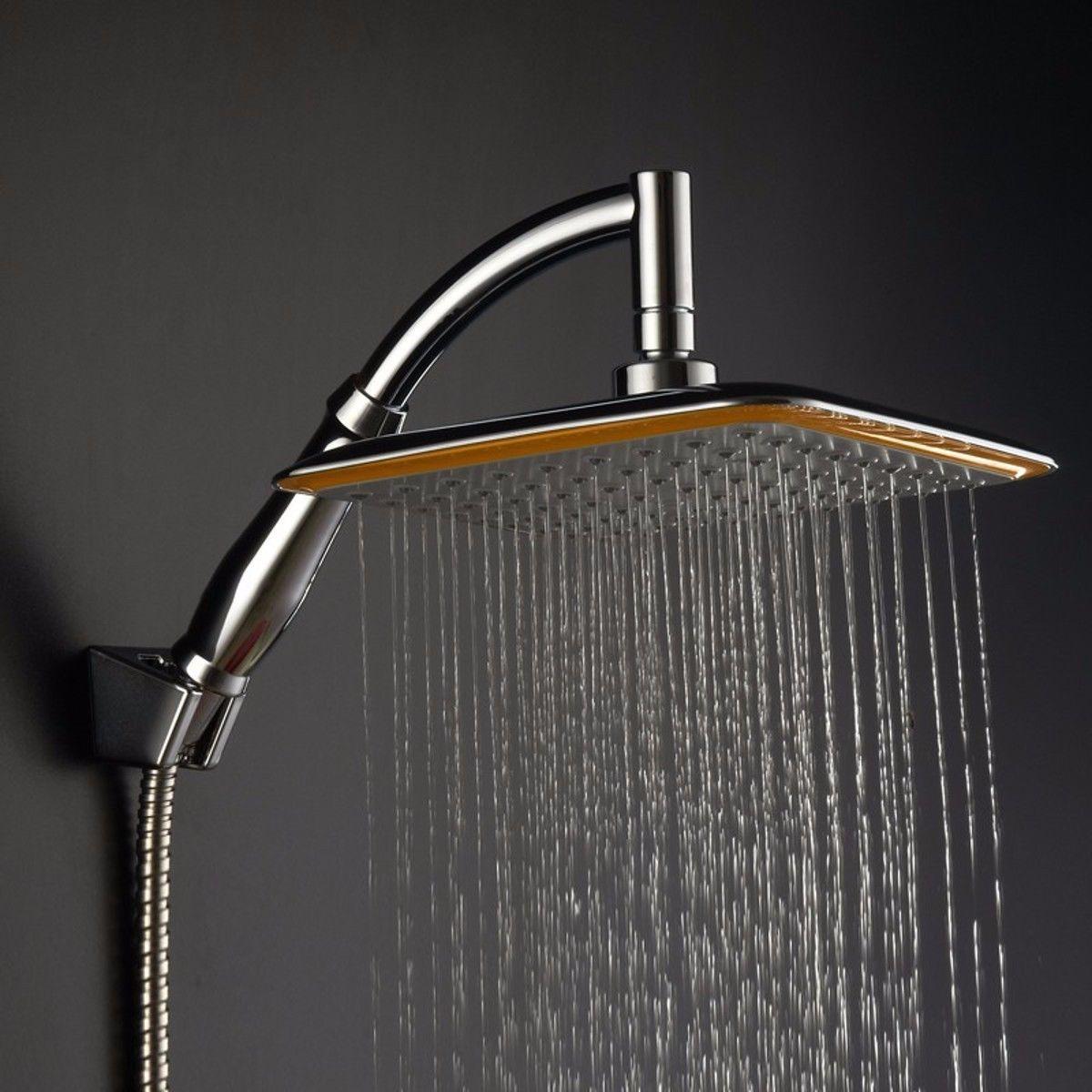 9 Square Stainless Steel Rain Shower Head Rainfall Bathroom Top