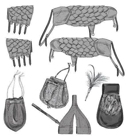 Diy Sewing Pattern-Butterick 5580-,Wrist bracer,Pouch, Ren Faire ...