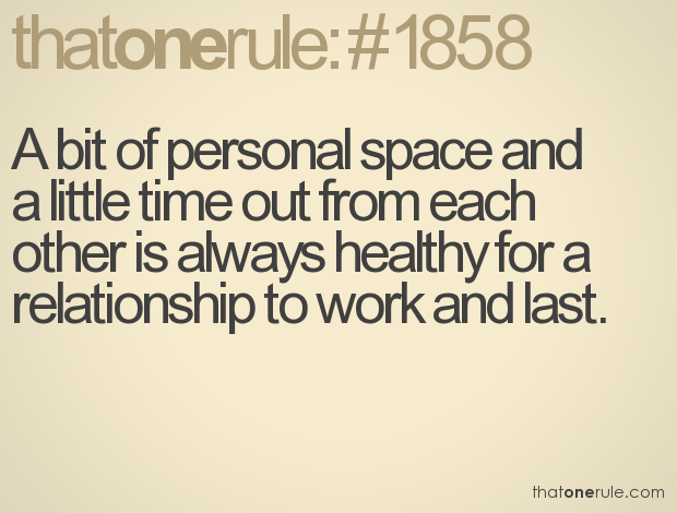 having your own space in a relationship