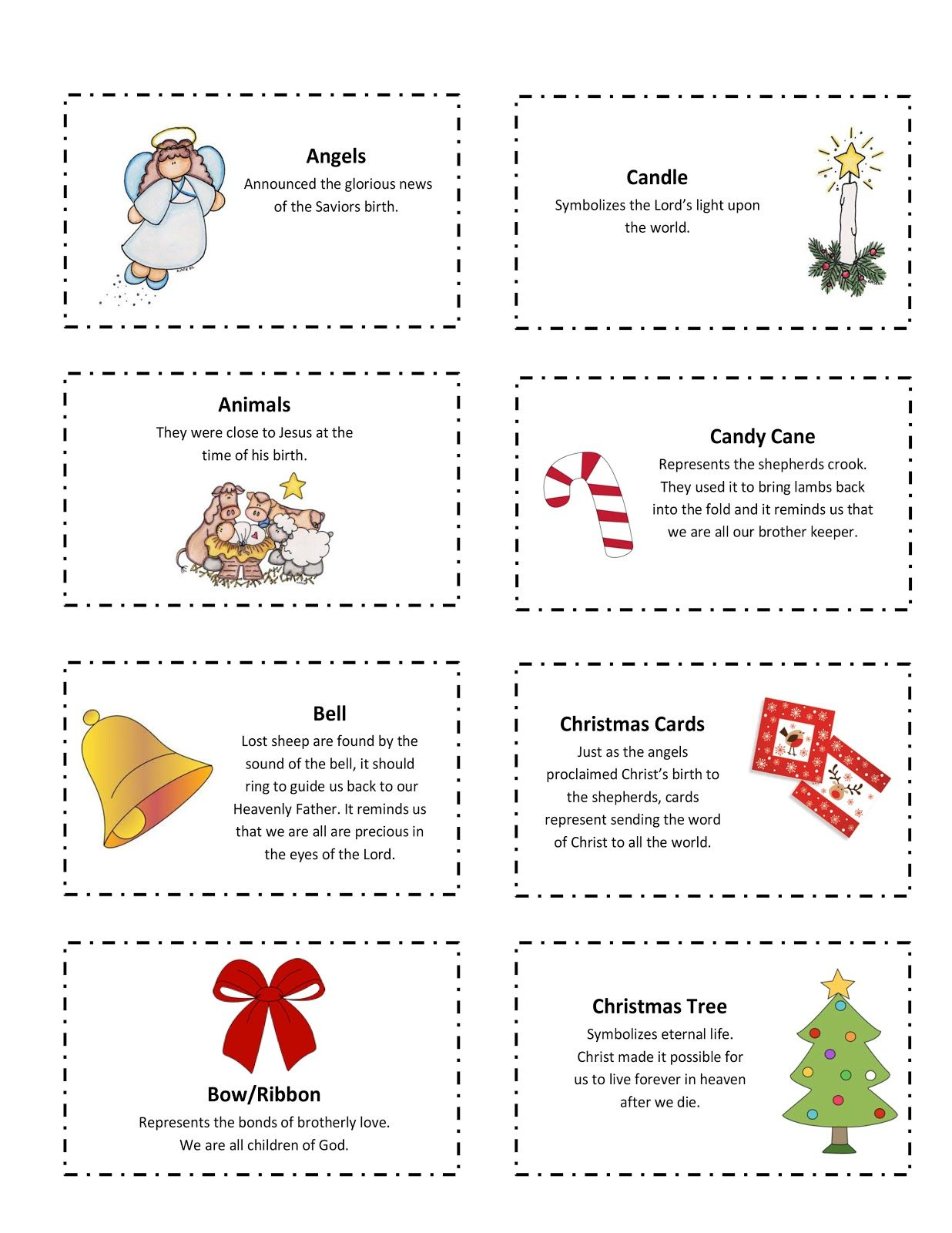 ourhomecreations: Free printable with 25 Days of Christmas Symbols ...