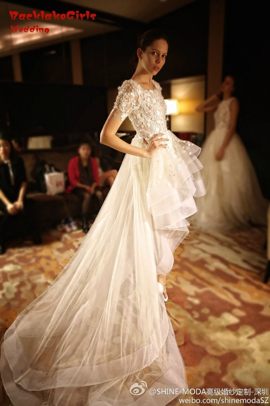 Wedding dress with short front and long back  Click to Buy ucuc Front Short And Long Back Wedding Dress  Bridal