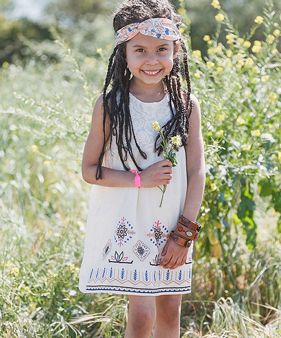 Look at this #zulilyfind! Ivory Sleeveless Dress - Girls by Featherweight by Three Bird Nest #zulilyfinds