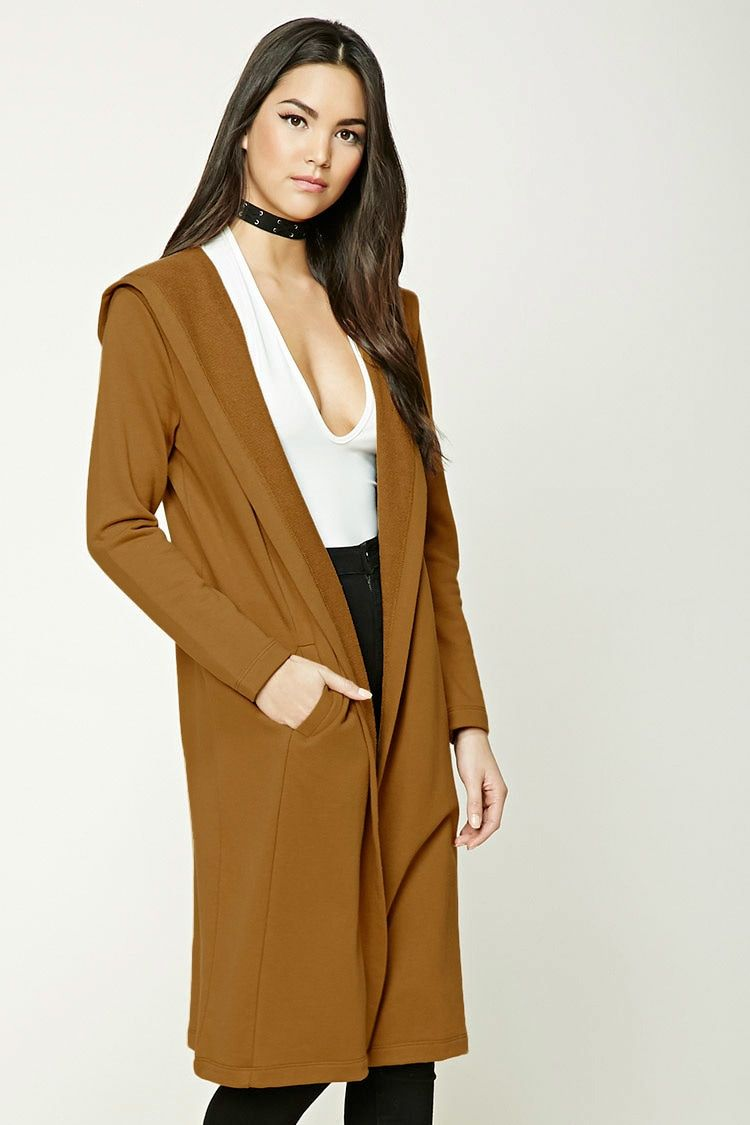 Longline Hooded Cardigan - Women - New Arrivals - 2000190168 ...