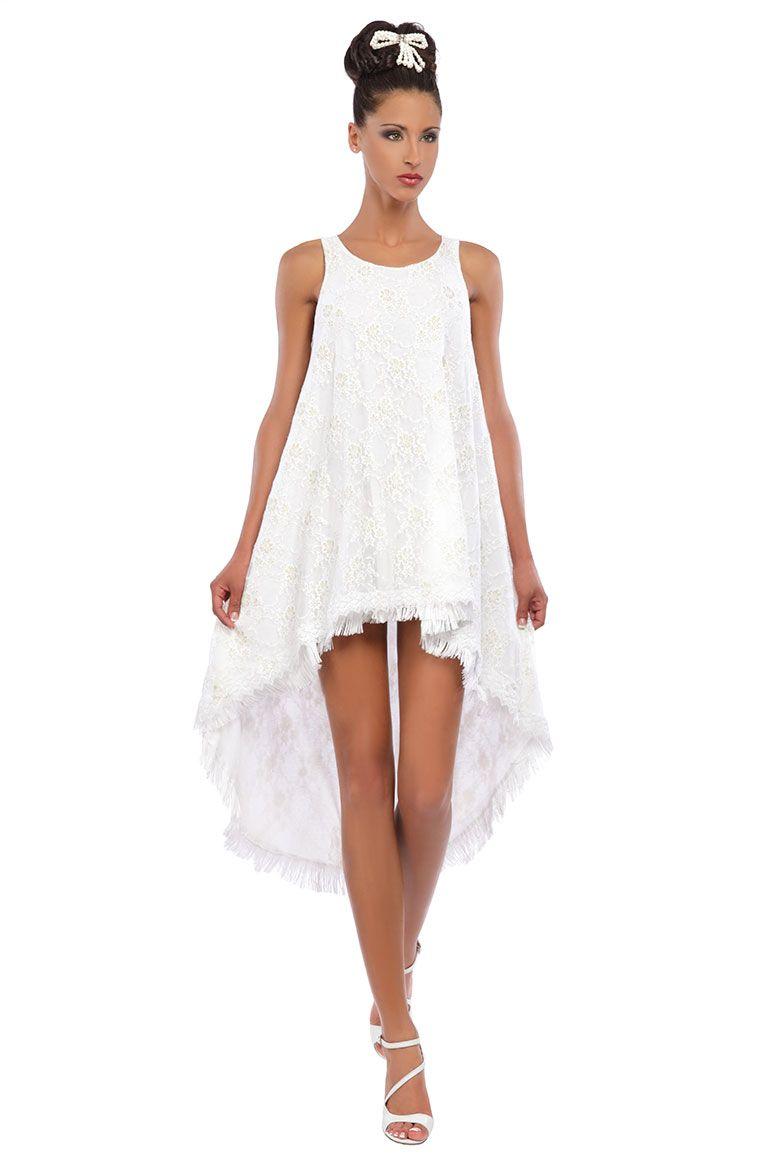 Robe trap ze fluide en coton et dentelle blanche motif fleurs robedecocktail mode pinterest - Robe de mariee fluide dentelle ...