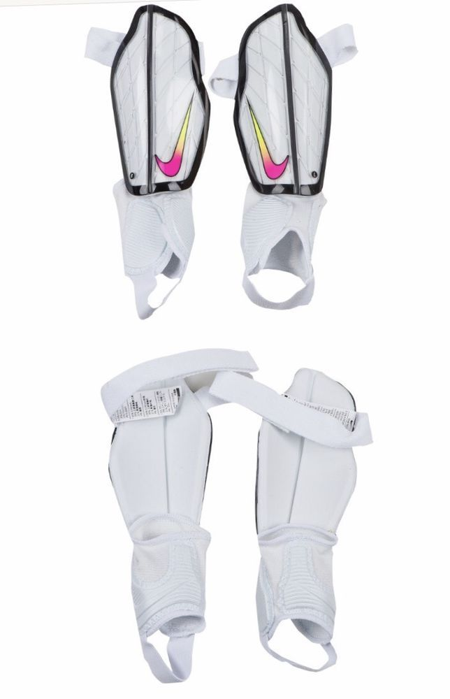 ba5caef7c4c4 NIKE PROTEGGA FLEX ADULT SOCCER SHIN GUARDS SIZE LARGE WHITE SPO313 104 -  NEW  NIKE