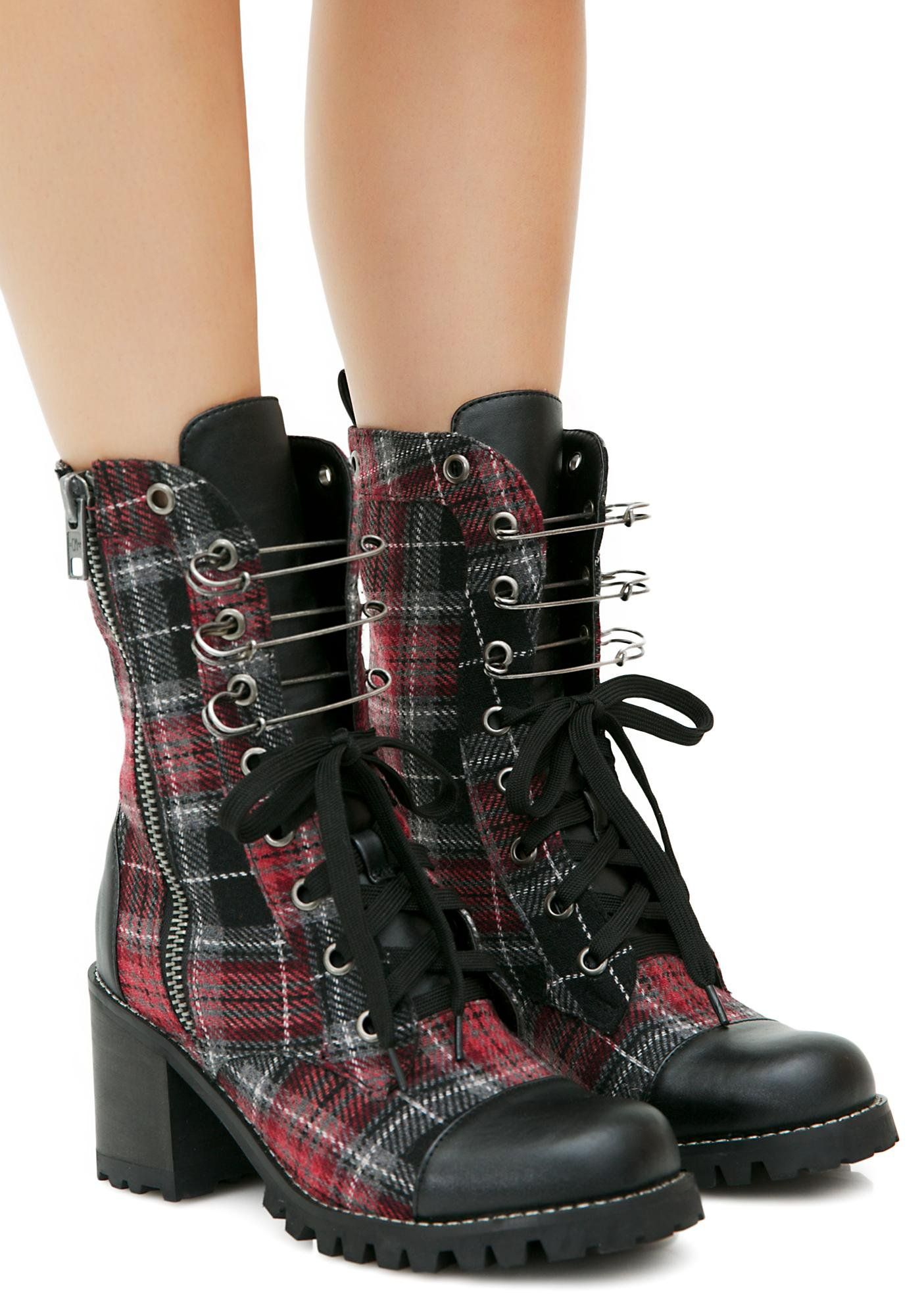 7a9877681b4 Current Mood Judy Plaid Combat Boots cuz you know you re a punk. These