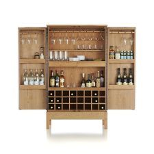 Charmant Victuals Cherry Bar Cabinet