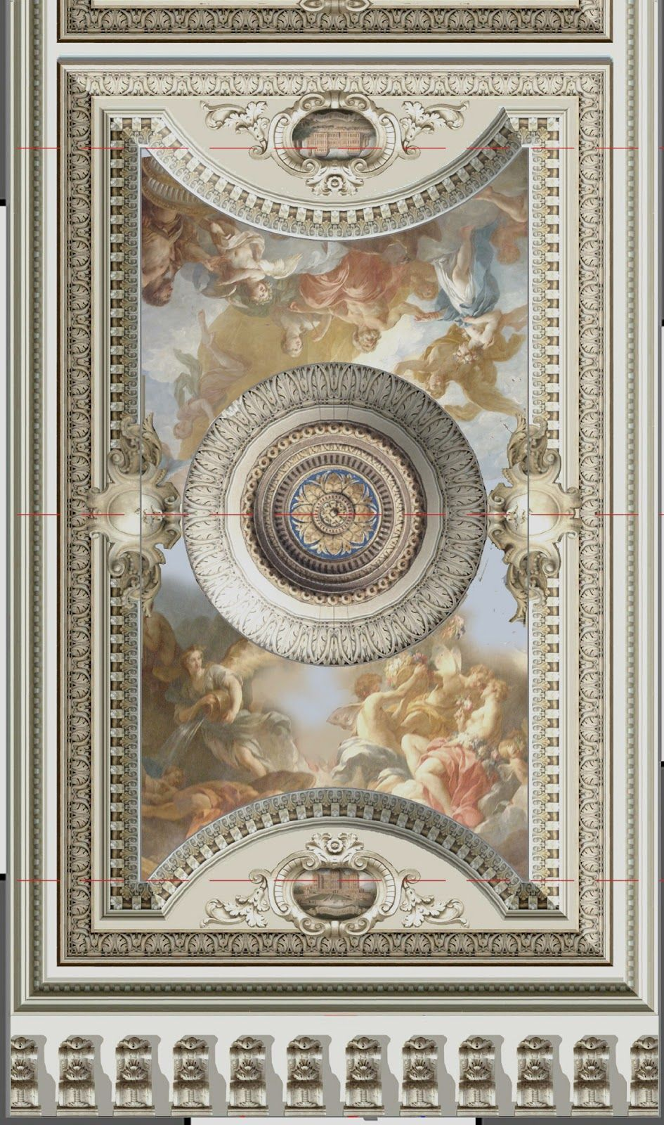 Demeures Peintes A Classical Ceiling Ceiling Art Painted Ceiling Classic Paintings