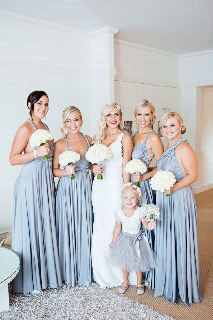 Pink multiway bridesmaid dress  ALine Halter Backless Grey Chiffon Bridesmaid Dress With Pleats in