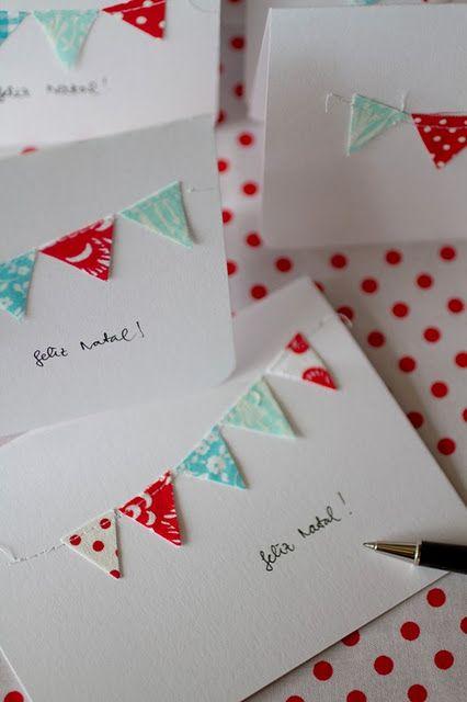 Christmas cards con cartulina cosida