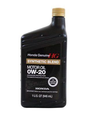 Genuine Honda Fluid 08798 9036 0w 20 Full Synthetic Blend Motor Oil 1 Quart