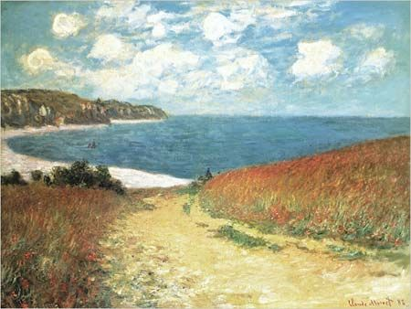 Claude Monet - Meadow Road to Pourville - Beautiful!!