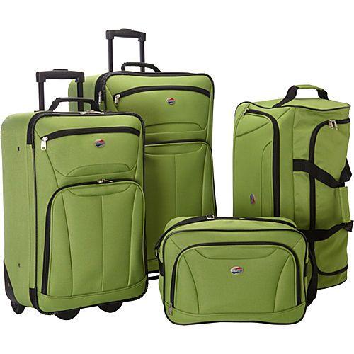 c26feca0b American Tourister Fieldbrook II 4 PC Nested Luggage Luggage Set New | eBay