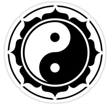 Yin Yang Lotus Sticker By Anne Mathiasz Yin Yang Lotus Yin Yang Yin