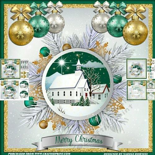 The Christmas Chapel My Craftsuprint Designs Christmas Cards
