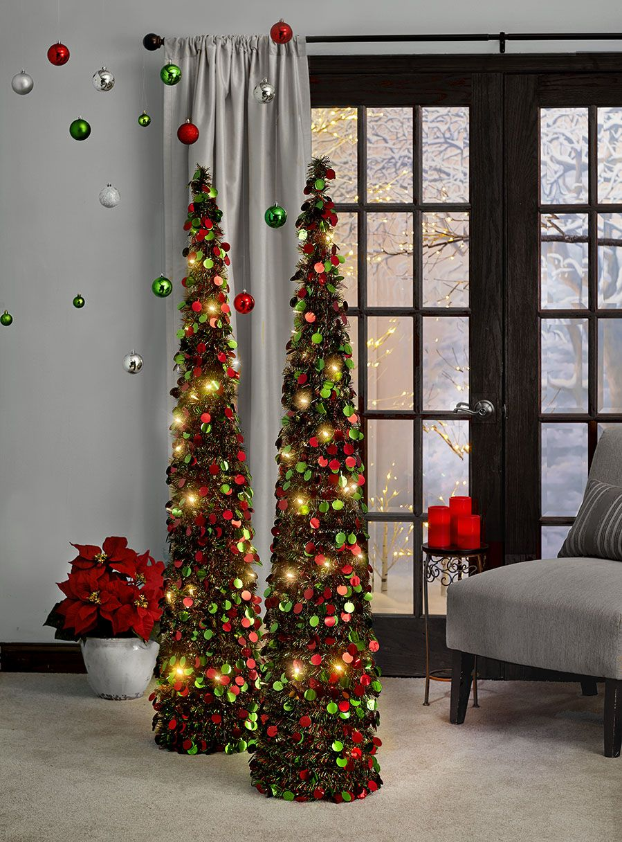 Beautiful Contemporary Design- if you don't have the space for a normal Christmas tree try these ...