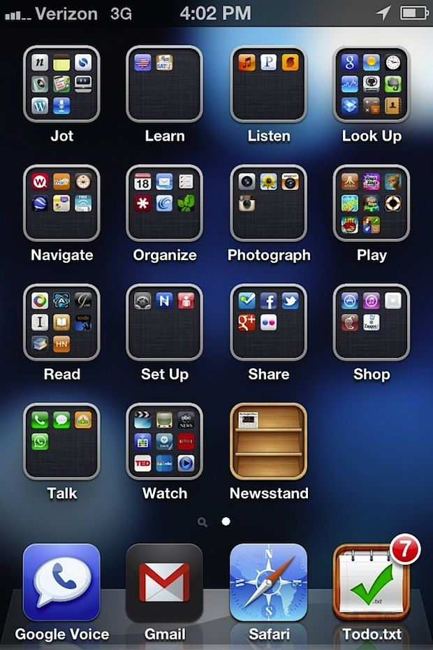best way to organize apps on android