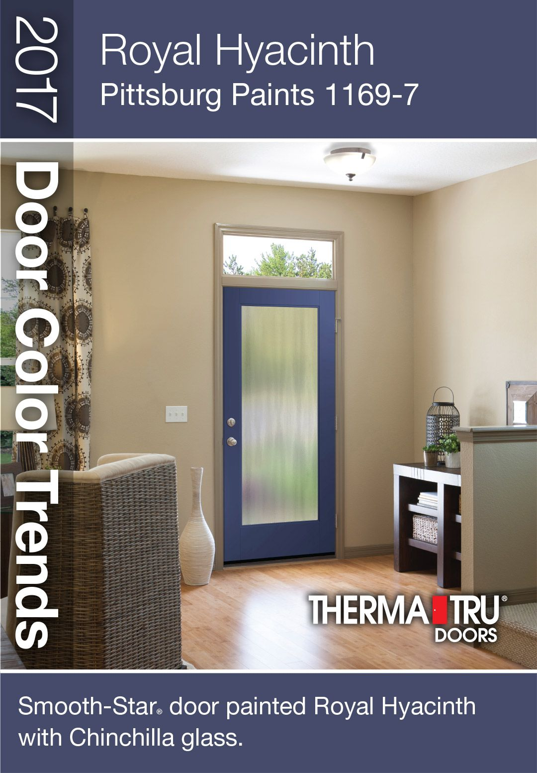 ThermaTru SmoothStar fiberglass door painted Fired Brick with