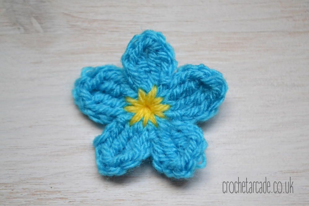 Forget Me Not Flower Allfreecrochet Crochet Patterns