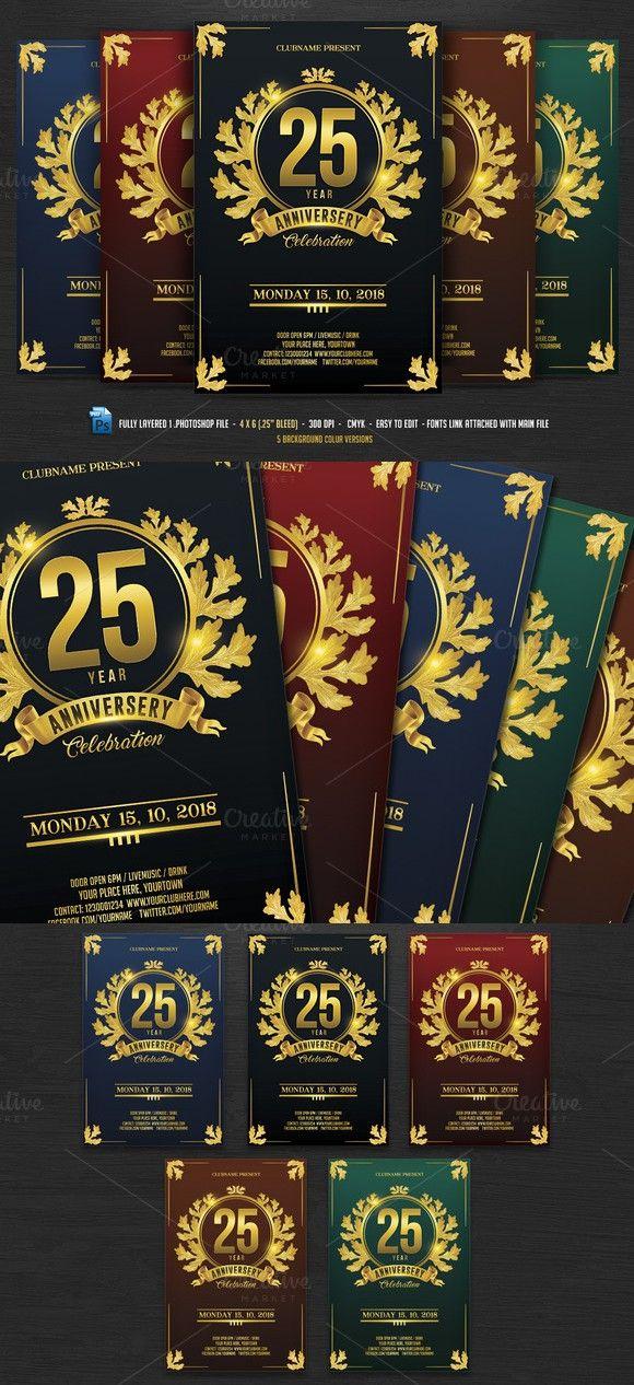 Anniversary Celebration Flyer. Flyer Templates. $7.00