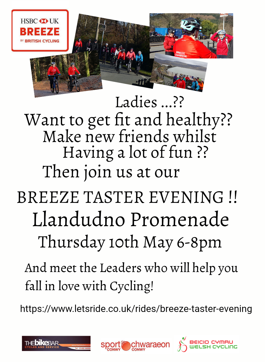 Breeze Taster Evening In Llandudno Cycling Workout Fitness