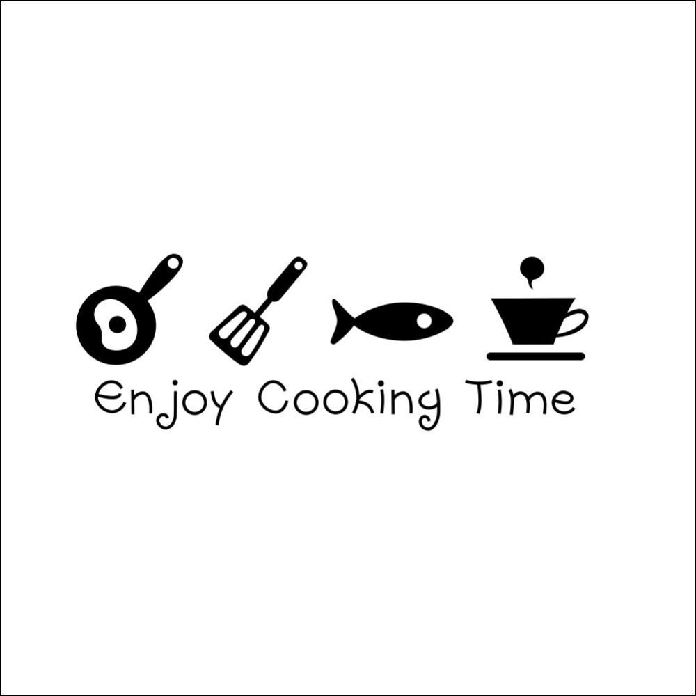 Enjoy Cooking Time Wall Sticker in 10  Kitchen wall stickers