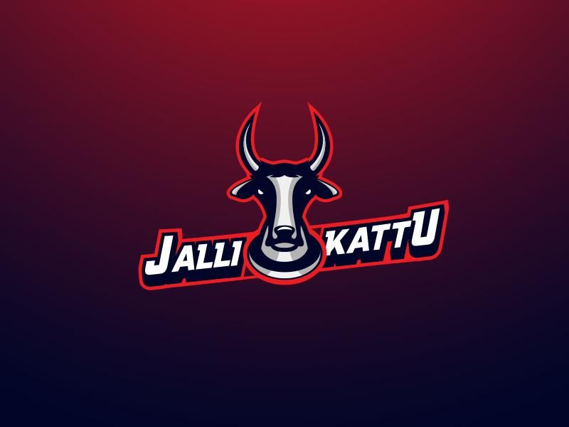Jallikattu logo | Logos | Logos, Sports logo, South india