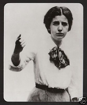 """Elizabeth Gurley Flynn was a determined and fiery organizer for the Industrial Workers of the World (IWW, Wobblies), a founding member of the American Civil Liberties Union, and an activist for women's rights, birth control, and women's suffrage. She died in 1964. She was Joe Hill's """"Rebel Girl."""""""
