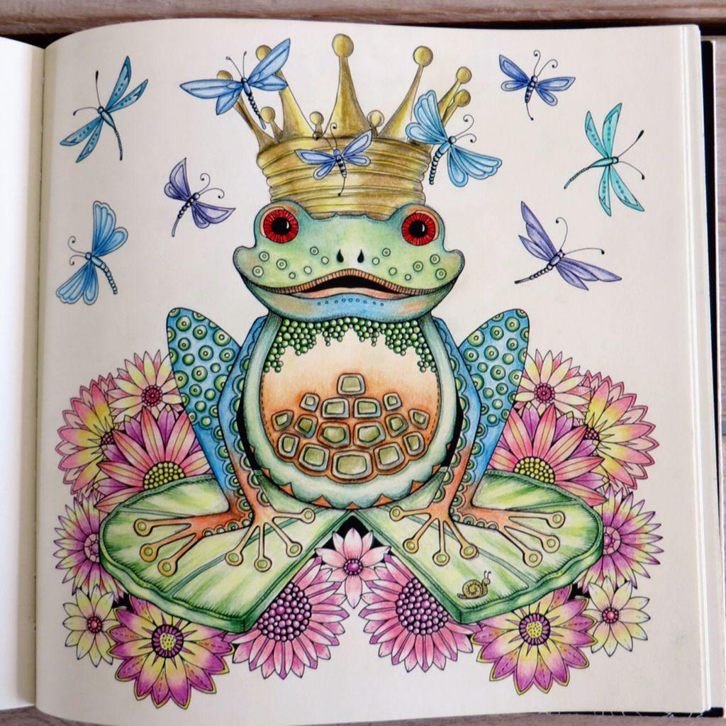 1 April King Frog , Enchanted Forest, Johanna Basford   Johanna ...