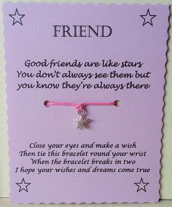 Friends Are Like Stars Wish Bracelet Gift Friendship Etsy Wish Bracelets Friendship Gifts Friends Are Like