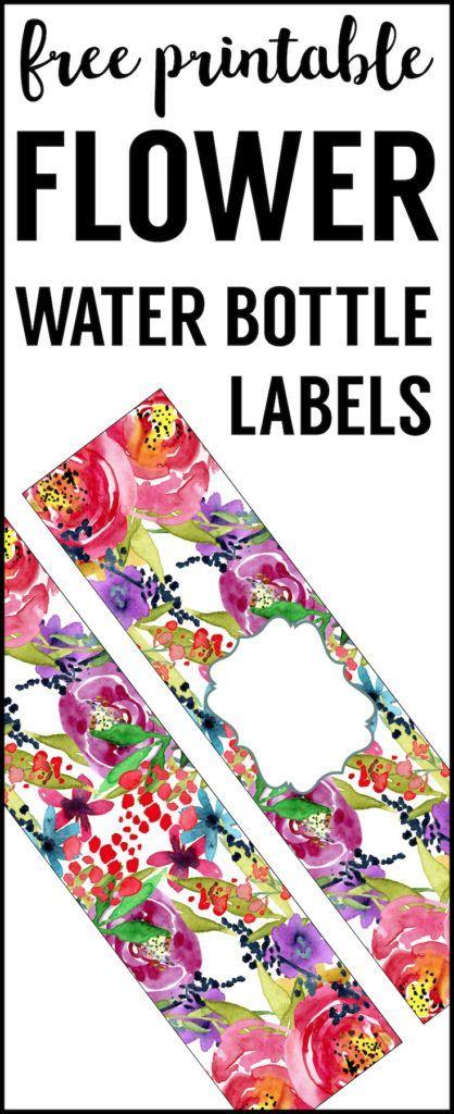 Spring Water Bottle Labels Free Printable Paper Trail Design Water Bottle Labels Free Printable Water Bottle Labels Water Bottle Labels Template