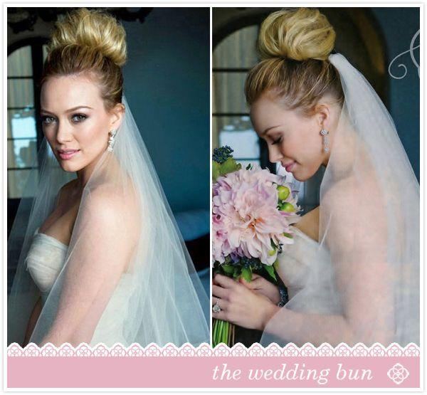 The Wedding Bun via Hilary Duff #Bridal #weddinghair #bridehair ...