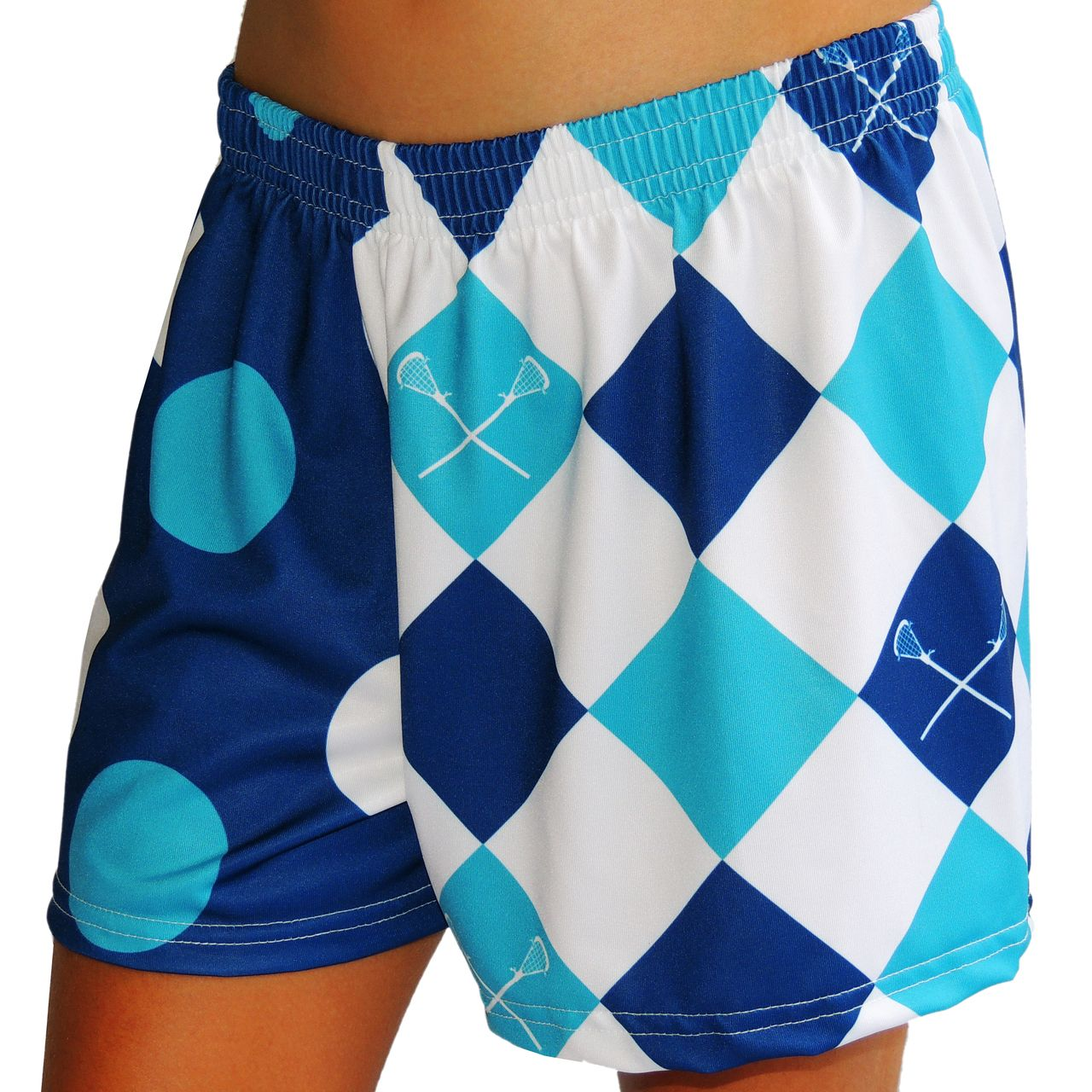 Blue Sublimated Lax Shorts Youth Teal Lacrosse Short Boys Lacrosse Shorts