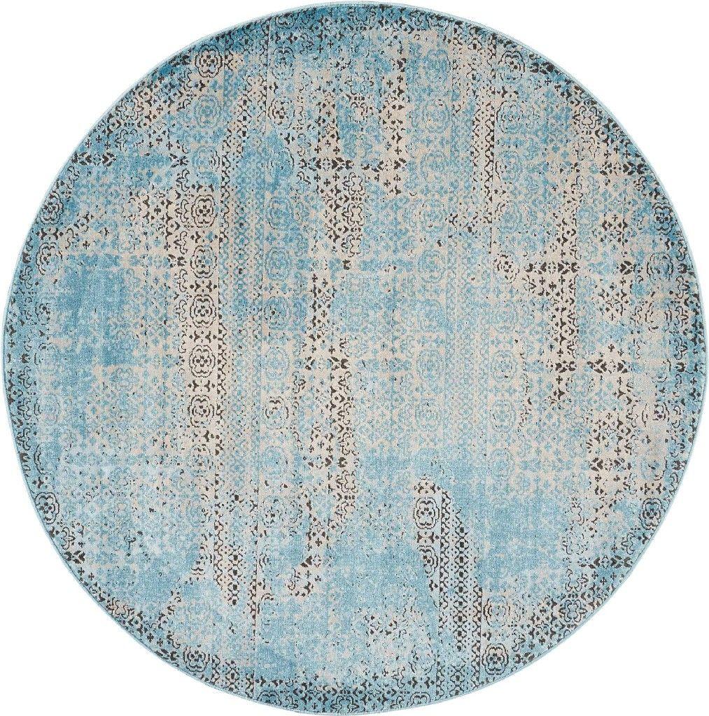 Karma 5 Round Blue Vintage Area Rug
